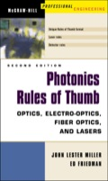 QUICKLY AND EASILY ESTIMATE THE IMPACT OF CHANGE WITH 300 PROVEN PHOTONICS CALCULATIONS!  UPDATED WITH 100 COMPLETELY NEW AND IMPROVED RULES AND ORGANIZED INTO 18 CHAPTERS THAT INCLUDE LASERS, DETECTORS, OPTICS OF THE ATMOSPHERE, AND MANY MORE!   Here is a handy compilation of 300 cost-saving, think-on-your-feet photonics rules of thumb designed to save you hours of design time and a world of frustration