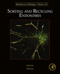 Sorting and Recycling Endosomes provides the latest information on endosomes, the receiving compartment for endocytosed cargos, and the donor compartment and sorting station for cargos designated to lysosomes, Golgi, or plasma membrane