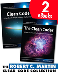 The Robert C. Martin Clean Code Collection consists of two bestselling eBooks:    Clean Code: A Handbook of Agile Software Craftmanship  The Clean Coder: A Code of Conduct for Professional Programmers   In Clean Code, legendary software expert Robert C. Martin has teamed up with his colleagues from Object Mentor to distill their best agile practice of cleaning code