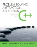 Problem Solving, Abstraction, and Design Using C  presents and reinforces basic principles of software engineeringdesign and object-oriented programming concepts while introducingthe C   programming language