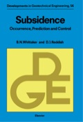 Subsidence: Occurrence, Prediction And Control