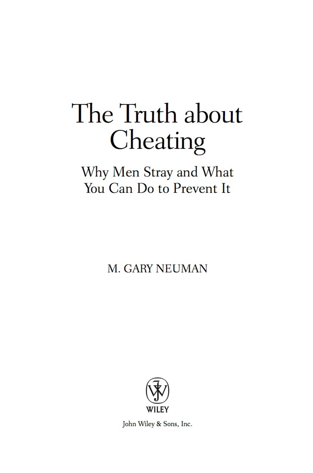 The Truth about Cheating (ebook) eBooks