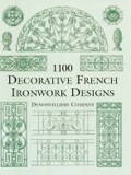 Hundreds of finely detailed illustrations of garden seats, candelabras, moldings, gates, balcony grilles, vases, crosses, funerary ornaments and monuments, finials, doorknobs and many other ornamental features