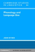 Referencing new developments, this book investigates various ways in which a speaker/hearer's experience with language affects the representation of phonology