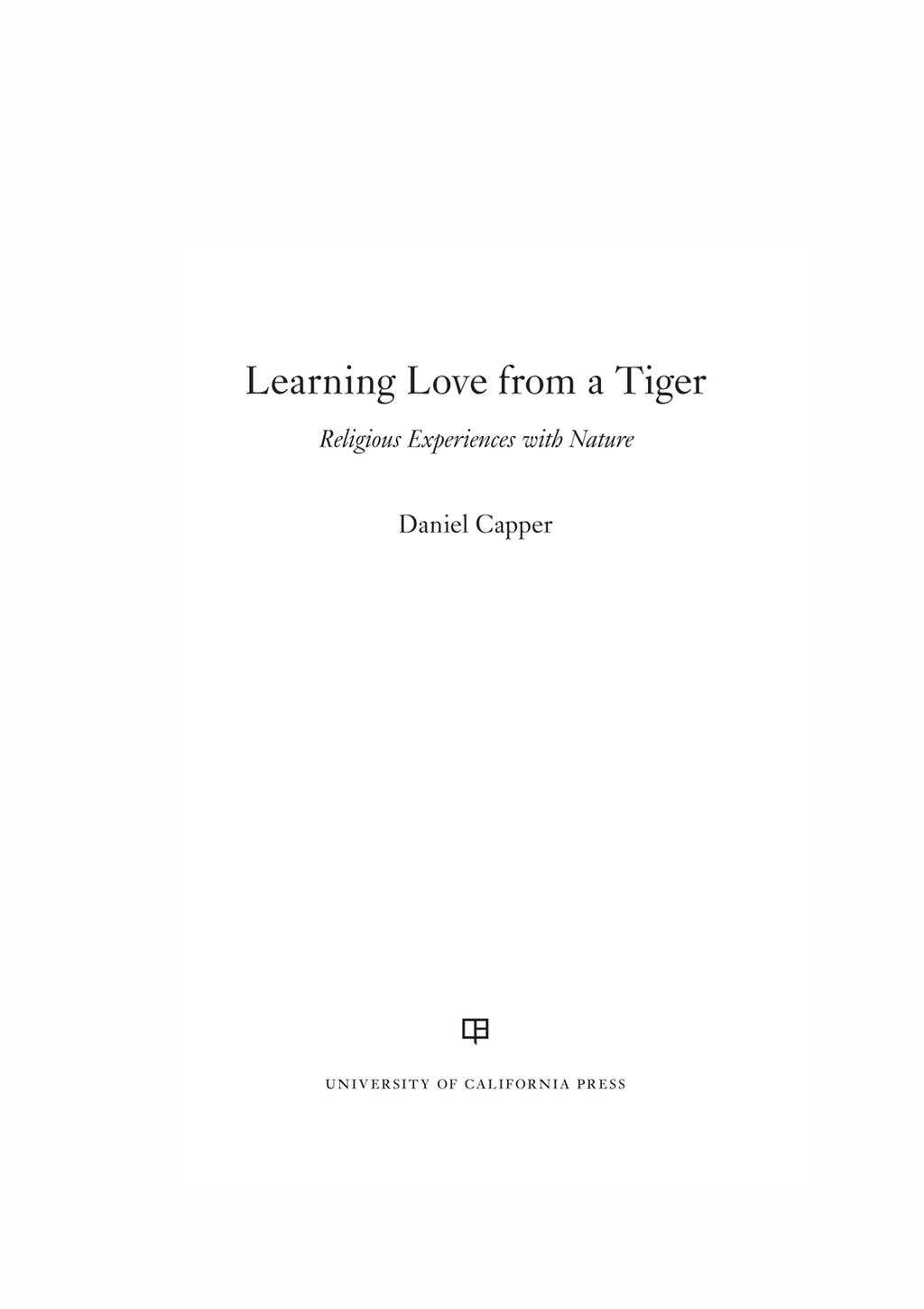 Learning Love from a Tiger (ebook) eBooks