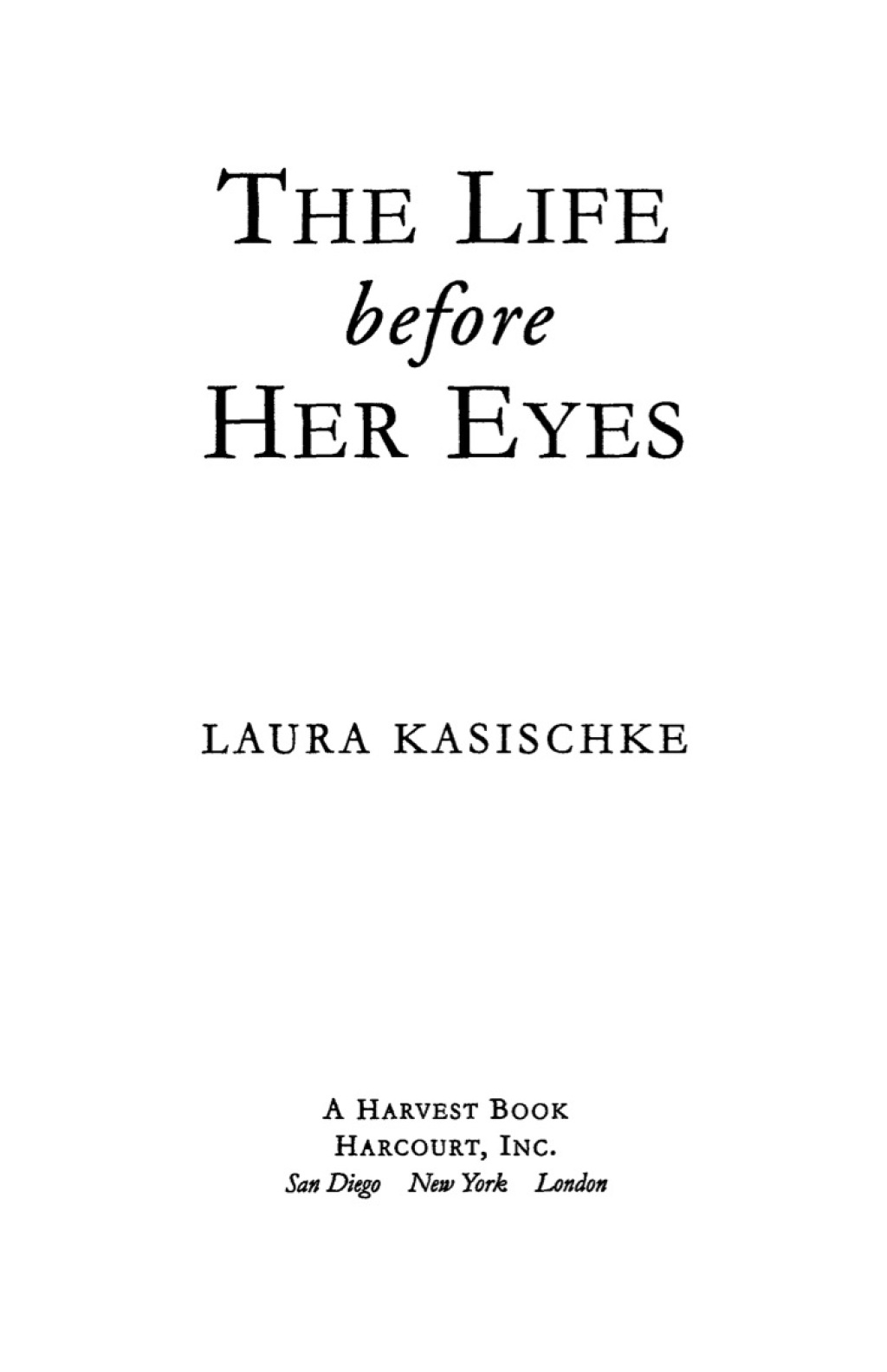 The Life Before Her Eyes (ebook)