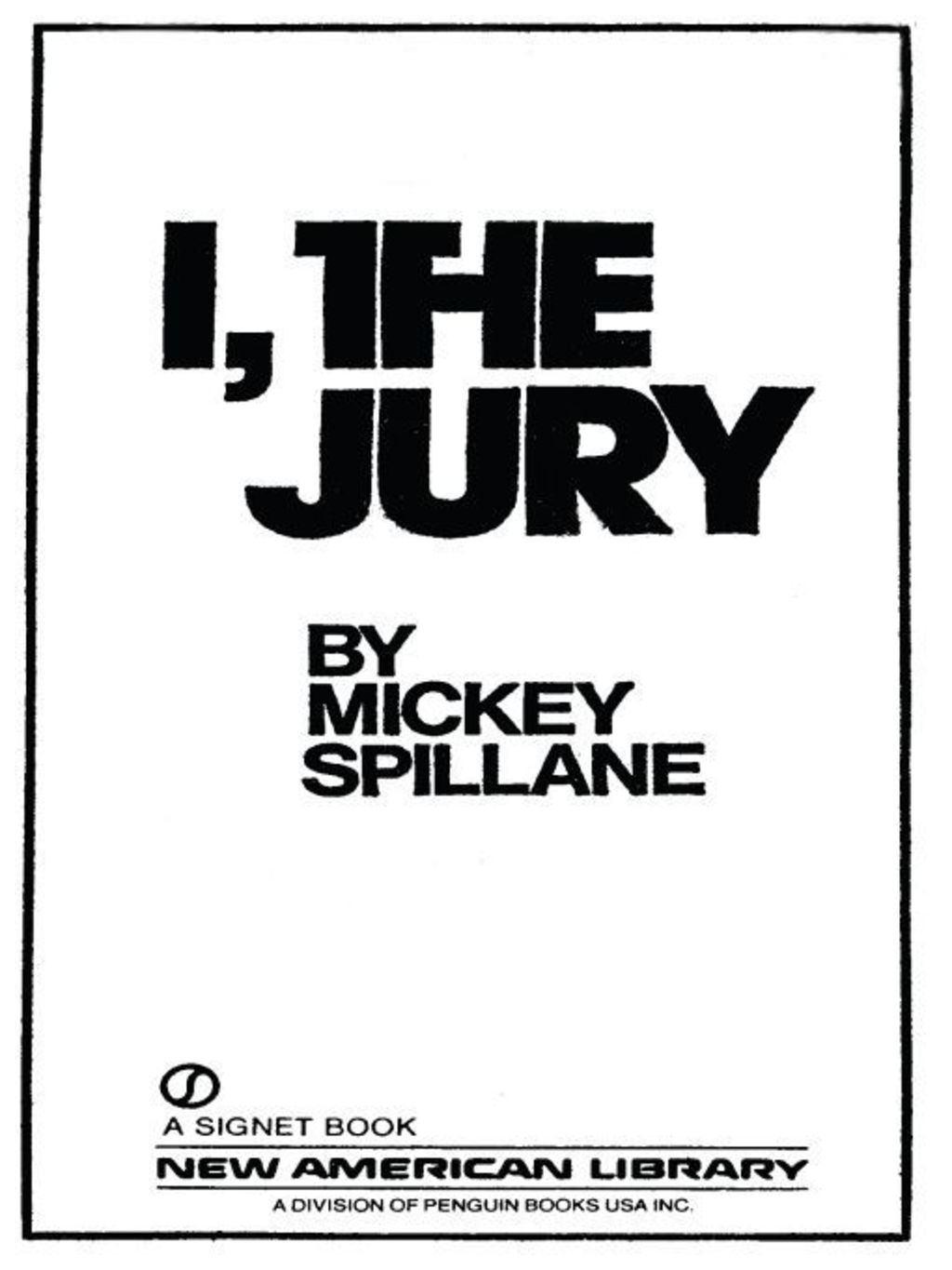 I, the Jury (ebook) eBooks