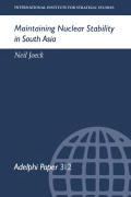 Maintaining Nuclear Stability In South Asia