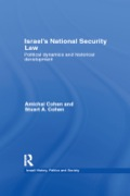 Israel's National Security Law 9781136653230R90
