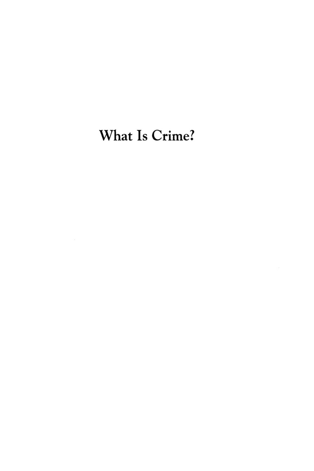What Is Crime? (ebook) eBooks
