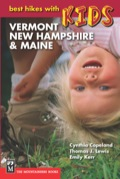 Guidebook forcused on short hikes and outdoor activities for kids in Vermont, New Hampshire, and Maine