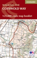 Cotswold Way Map Booklet: 1:25,000 Os Route Mapping