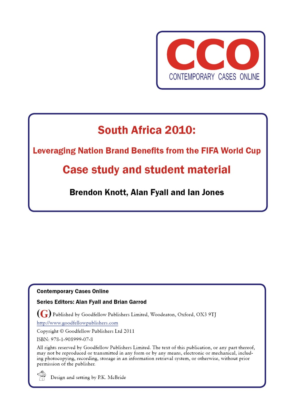 South Africa 2010: Leveraging Nation Brand Benefits from the FIFA World Cup (ebook) eBooks