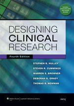 """Designing Clinical Research"" (978-1-4698-8417-2)"