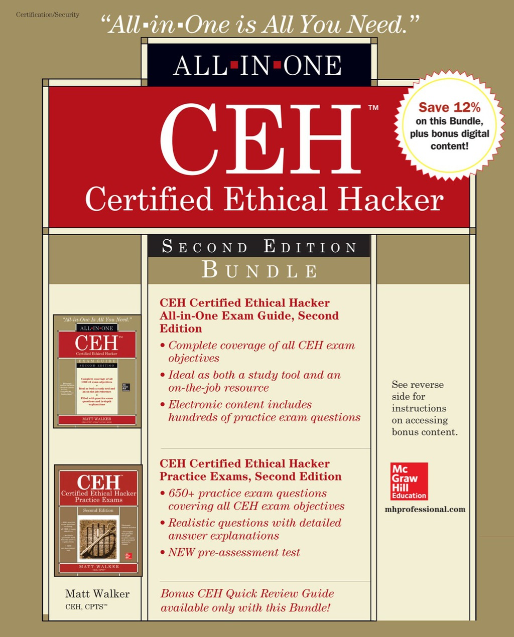 CEH Certified Ethical Hacker Bundle  Second Edition (eBook)