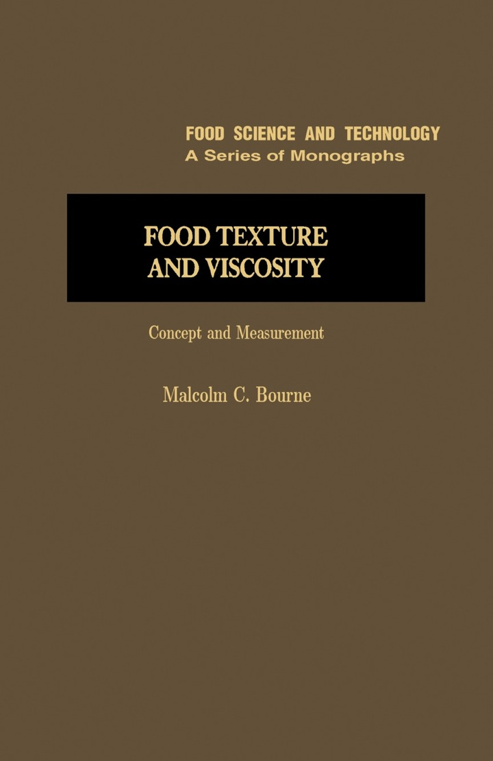 Food Texture and Viscosity: Concept and Measurement