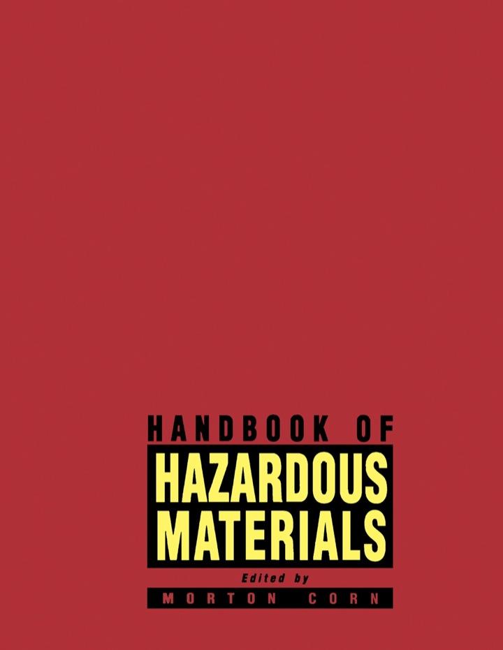 Handbook of Hazardous Materials
