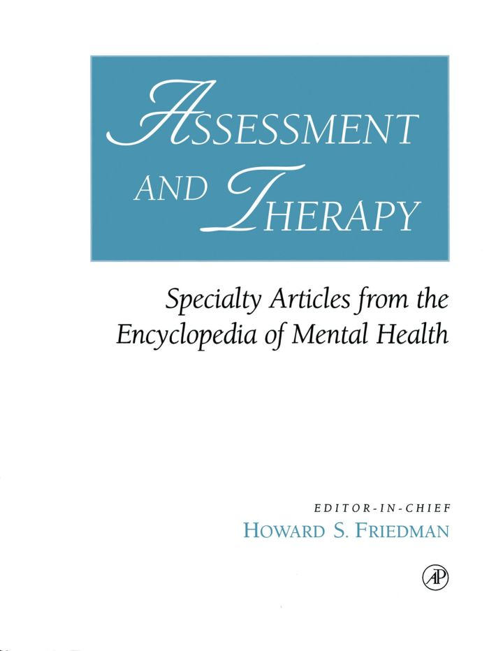 Assessment and Therapy: Specialty Articles from the Encyclopedia of Mental Health