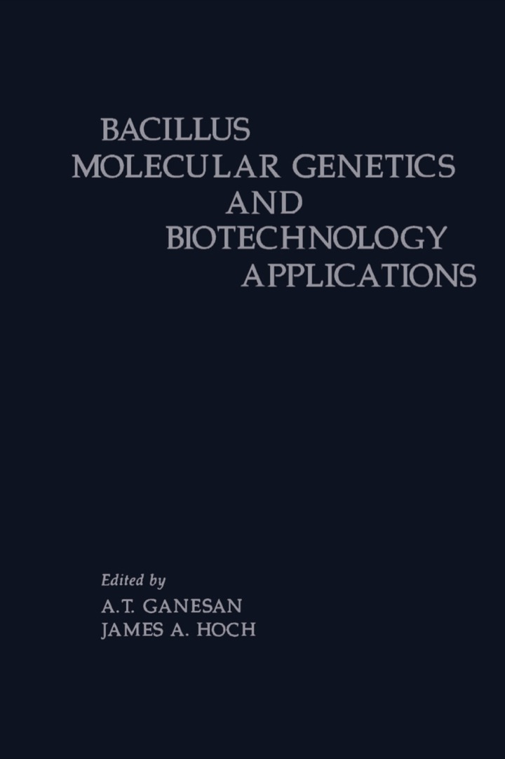 BACILLUS MOLECULR GENETCS&BIOTECH APPL Z