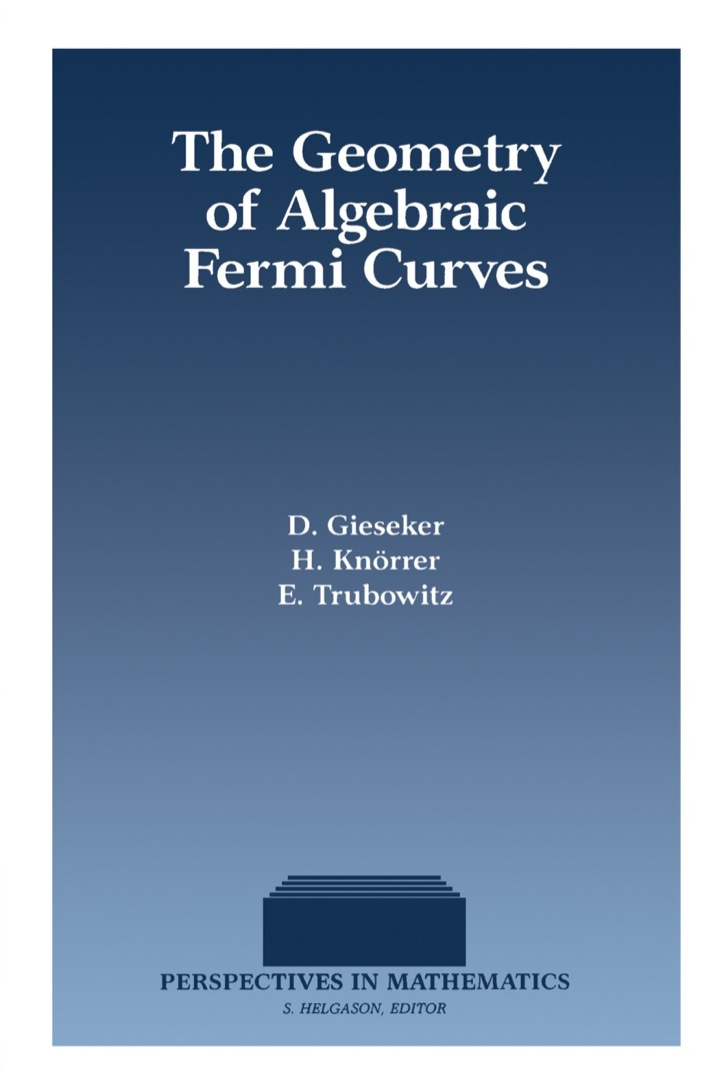 The Geometry of Algebraic Fermi Curves