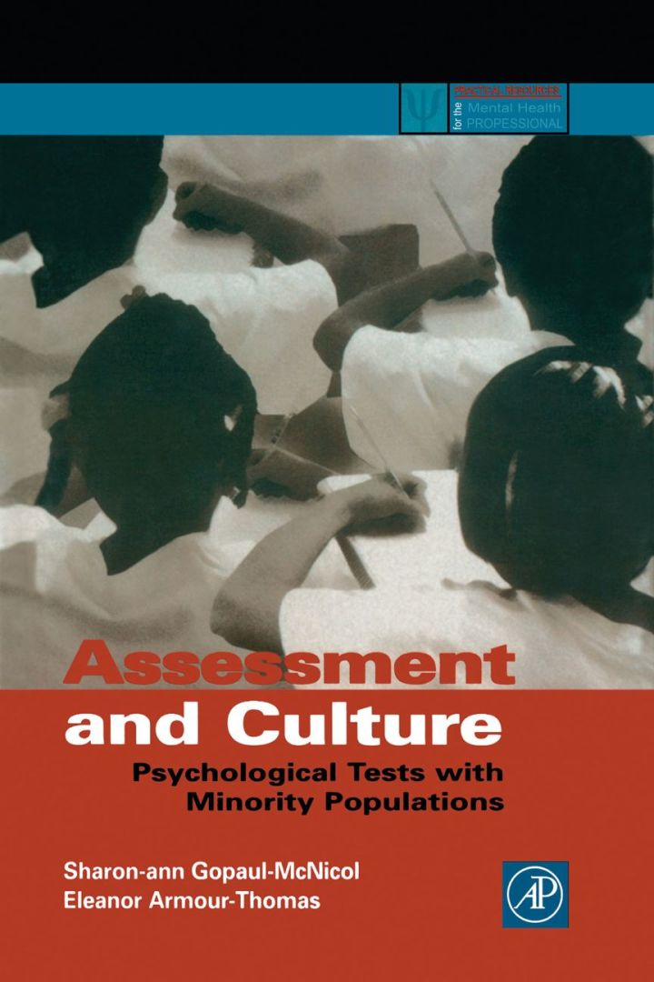 Assessment and Culture: Psychological Tests with Minority Populations