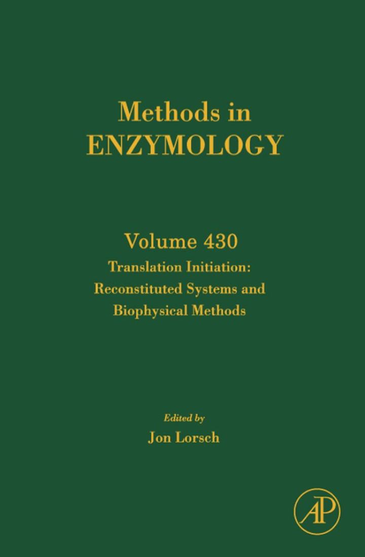 Translation Initiation:  Reconstituted Systems and Biophysical Methods: Reconstituted Systems and Biophysical Methods