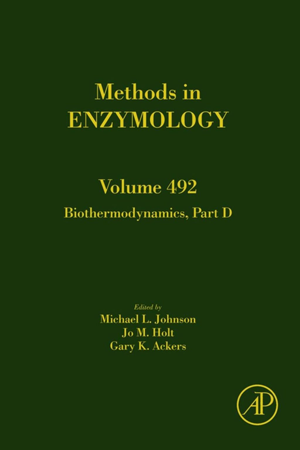 Biothermodynamics  Part D (eBook) - Johnson;  Michael L.,