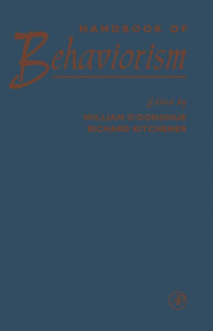 Handbook of Behaviorism