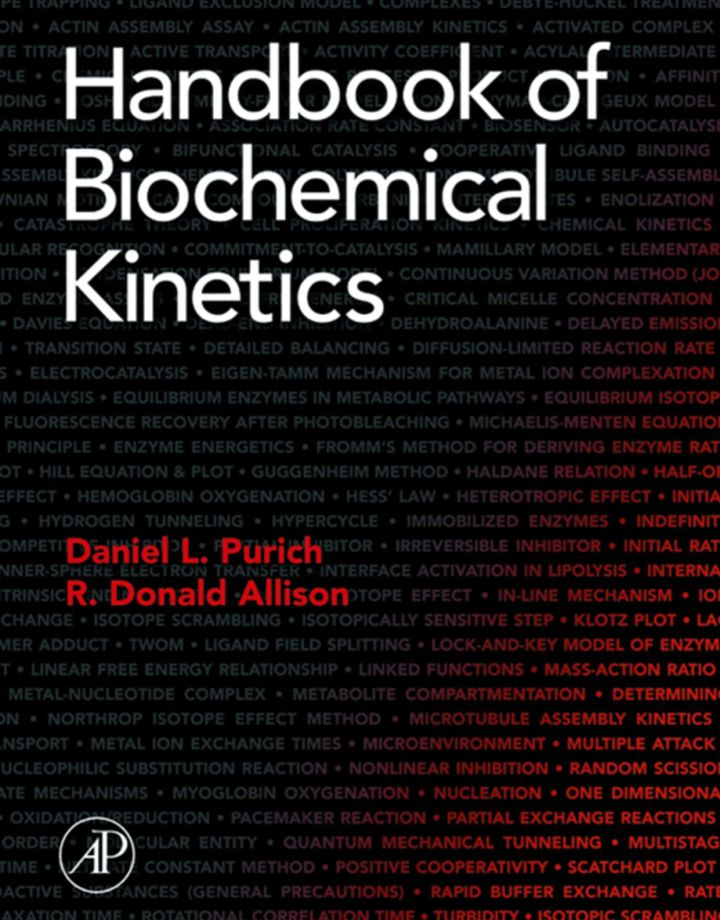 Handbook of Biochemical Kinetics: A Guide to Dynamic Processes in the Molecular Life Sciences
