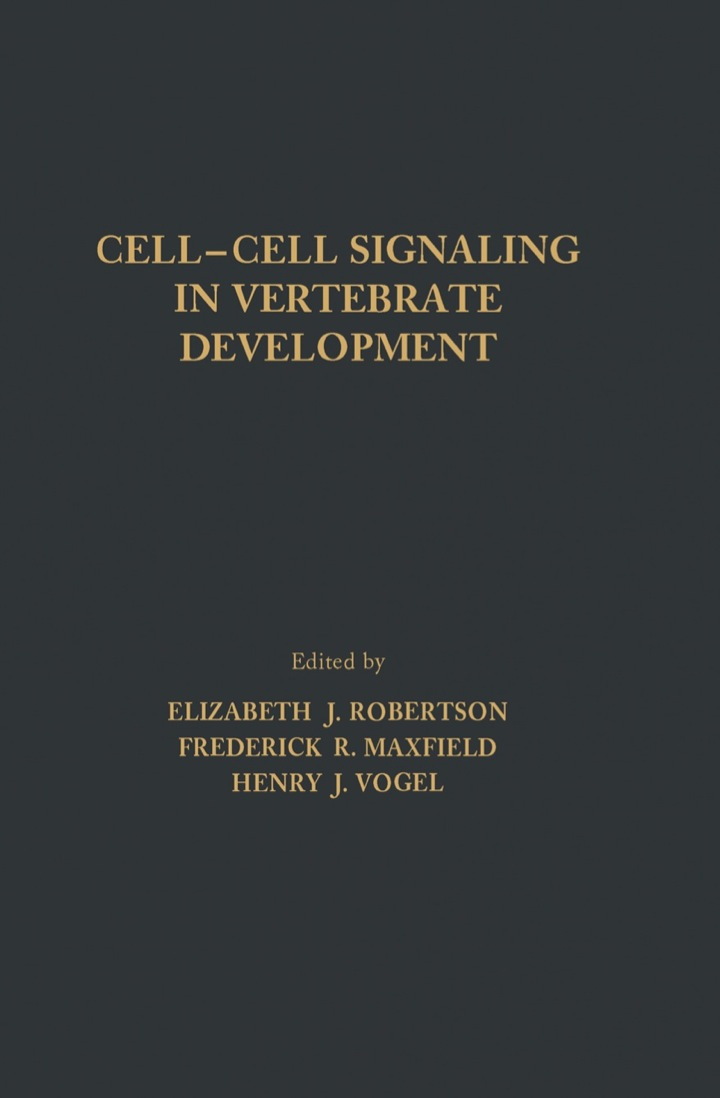 Cell-Cell Signaling in Vertebrate Development