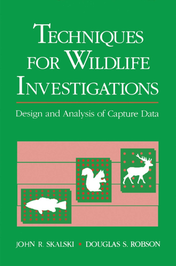 Techniques in Wildlife Investigations: Design and Analysis of Capture Data