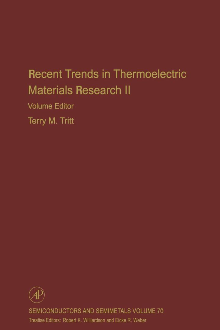 Recent Trends in Thermoelectric Materials Research, Part Two
