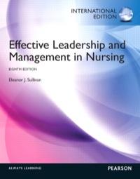 Management ebook in nursing effective leadership and