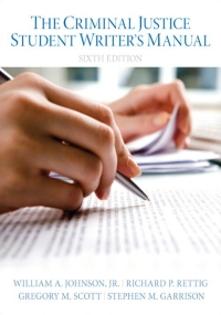 Criminal Justice Student Writer's Manual, The              by             Wm A. Johnson; Richard P. Rettig; Gregory M. Scott; Stephen M. Garrison