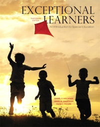 Exceptional Learners, 13th Edition              by             Daniel P. Hallahan; James M. Kauffman; Paige C. Pullen