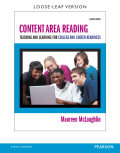 Content Area Reading: Teaching and Learning for College and Career Readiness 9780133586961R180
