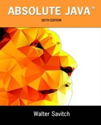 absolute java by walter savitch pdf