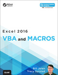 Excel 2016 VBA and Macros (includes Content Update Program) 9780134386034