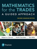 Mathematics for the Trades: A Guided Approach, Second Canadian Edition, 9780134798110R180