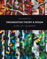 Organization Theory And Design 3rd Edition 9780176532208 9780176728243 Vitalsource