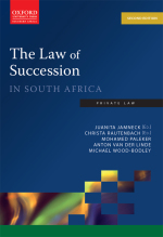 """""""Law of Succession in South Africa 2e"""" (9780199056668)"""