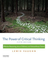 the power of critical thinking 5th edition lewis vaughn pdf
