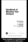 Handbook of Machine Tool Analysis 9780203909201R90