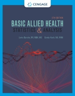 """Basic Allied Health Statistics and Analysis"" (9780357390504)"