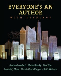 Everyone's An Author with Readings              by             Andrea Lunsford