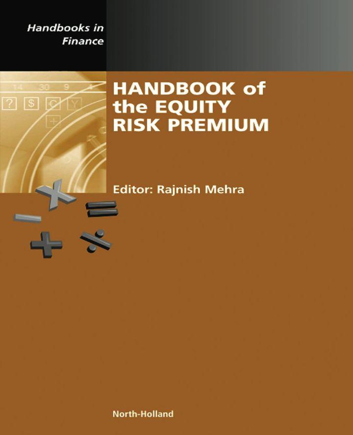 Handbook of the Equity Risk Premium