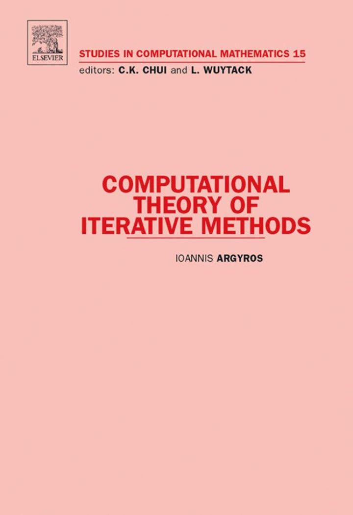 Computational Theory of Iterative Methods