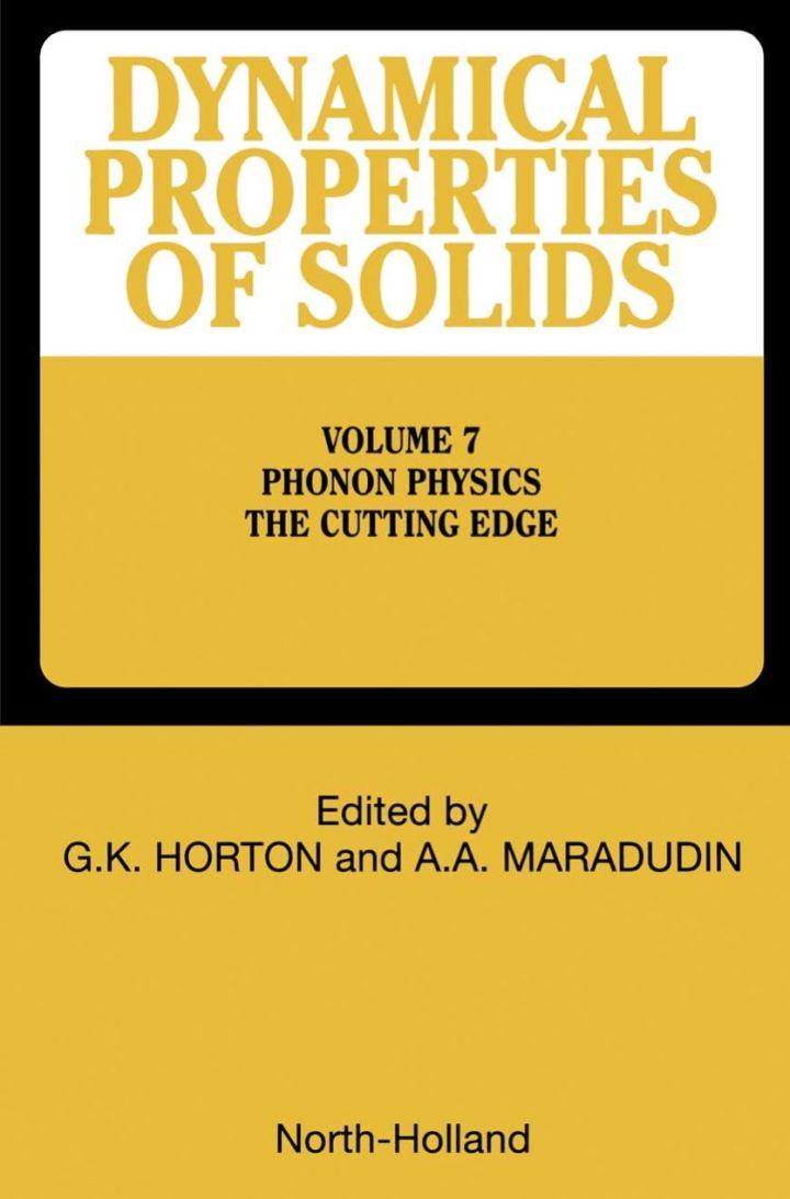 Phonon Physics The Cutting Edge