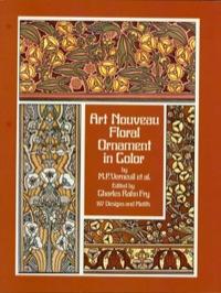 Art Nouveau Floral Ornament in Color              by             Maurice P. Verneuil