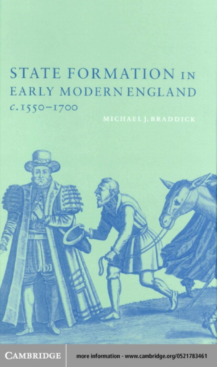 State Formation in Early Modern England, c.1550–1700